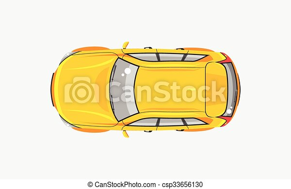 voiture, sommet, hayon, vue - csp33656130