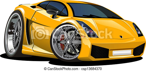 Voiture sport dessin anim disponible couches groupes format diter voiture isol - Voiture police dessin anime ...