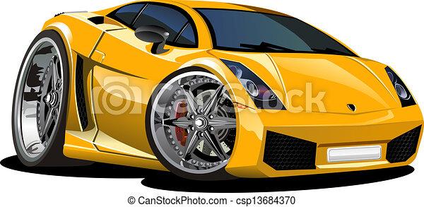 Voiture sport dessin anim disponible couches groupes - Course de voiture dessin anime ...