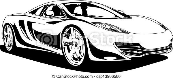 voiture, sport, original, mon, conception - csp13906586
