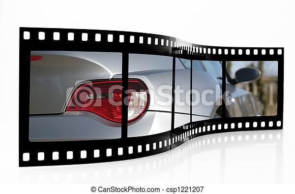 voiture, sports, bande film - csp1221207