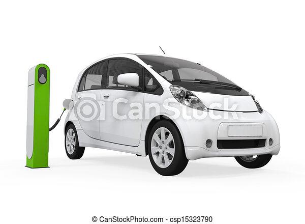 voiture station lectrique charger voiture lectrique isol station fond blanc charger. Black Bedroom Furniture Sets. Home Design Ideas