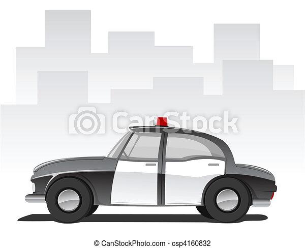 voiture, vecteur, police, dessin animé - csp4160832