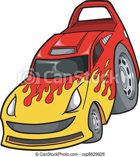 voiture, vecteur, rue, course, illustration - csp8629928
