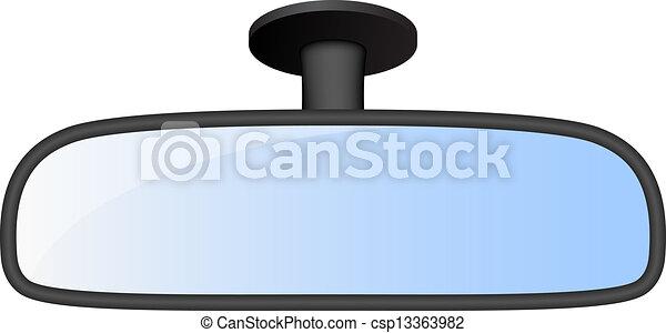 voiture, vue, miroir arrière - csp13363982