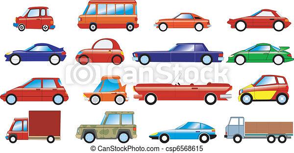 voitures, ensemble, symbolique - csp6568615