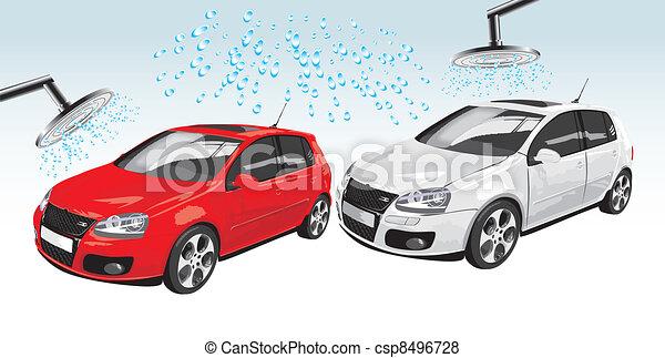 voitures, lavage, auto - csp8496728