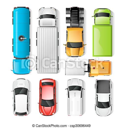 voitures, vue dessus - csp30696449