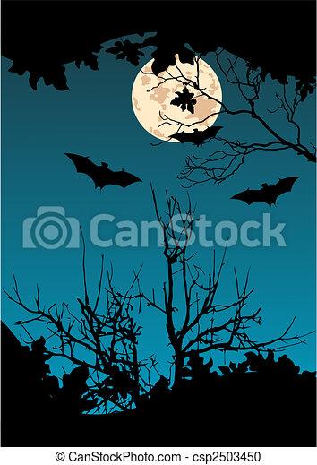 Murciélagos voladores - csp2503450