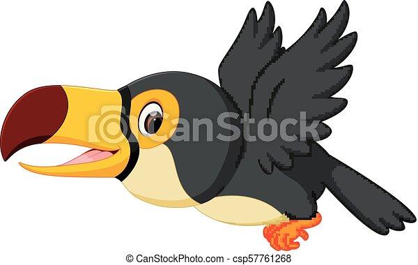Volare tucano cartone animato uccello volare tucano uccello
