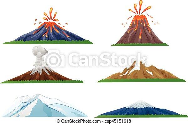Volcan Ensemble Eruption Dessin Anime Ensemble Eruption Illustration Vecteur Volcan Dessin Anime Canstock