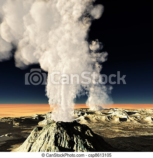 Volcanic eruption  - csp8613105