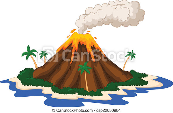vector illustration of volcanic island vector search clip art rh canstockphoto com volcano clipart free volcano clipart free