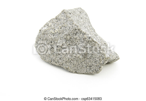 volcanic rock isolated over white - csp63415083