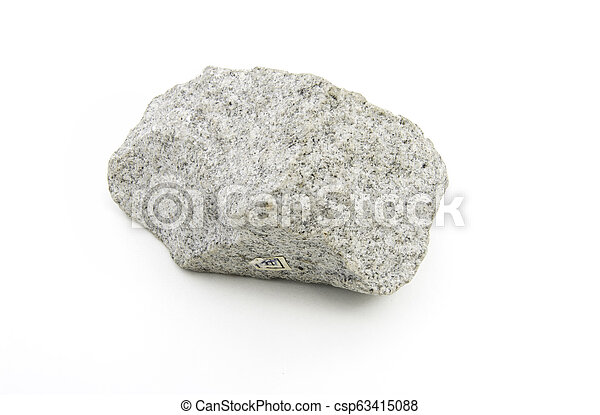 volcanic rock isolated over white - csp63415088