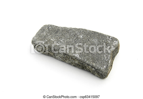 volcanic rock isolated over white - csp63415097