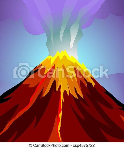 Mountain, Volcano, Volcano Mountain, Volcanic Eruption, Mount Etna, Lava,  Volcanic Glass, Cartoon transparent background PNG clipart   HiClipart