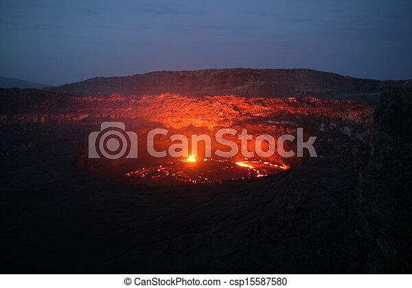 Volcano Erta Ale in Ethiopia - csp15587580