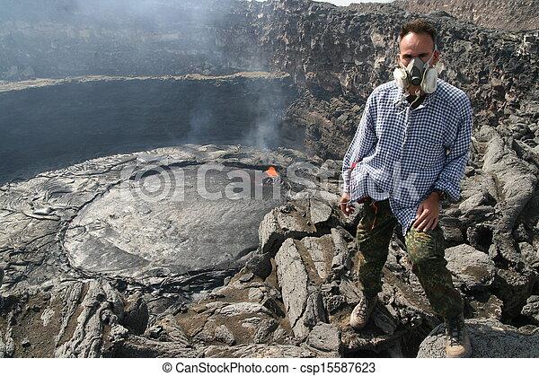 Volcano Erta Ale in Ethiopia - csp15587623