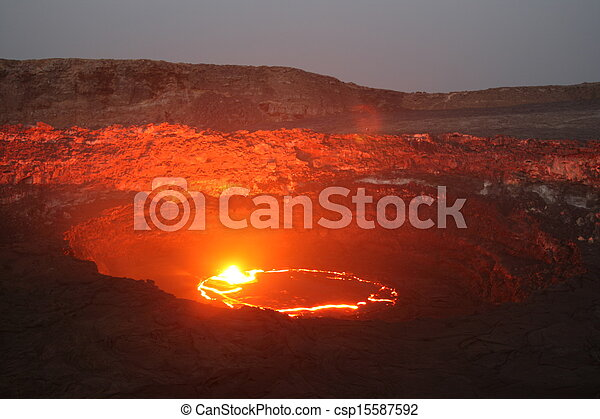 Volcano Erta Ale in Ethiopia - csp15587592