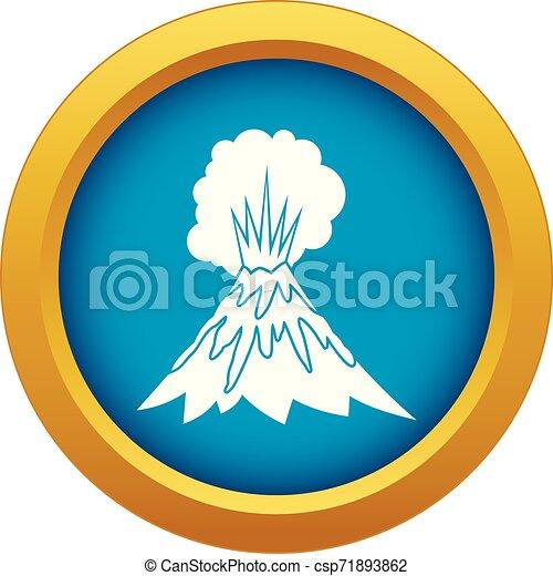 Volcano Eruption On Vector Illustration White Stock Illustration - Download  Image Now - iStock