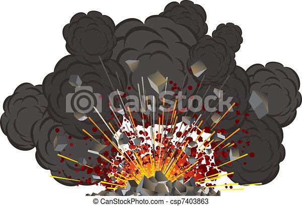 volcano eruption - csp7403863