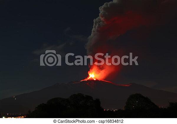 Volcano eruption  - csp16834812