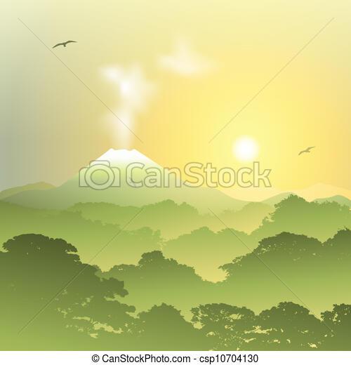 Volcano Landscape - csp10704130