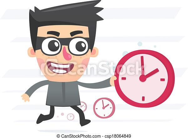 voleur, temps - csp18064849