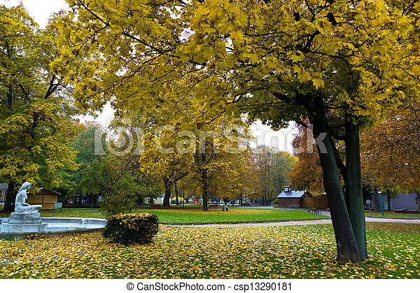 volksgarten in linz, upper austria in autumn - csp13290181