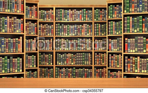 Boekenplank Met Boeken.Volle Oude Boeken Achtergrond Boekenplank Tafel Library
