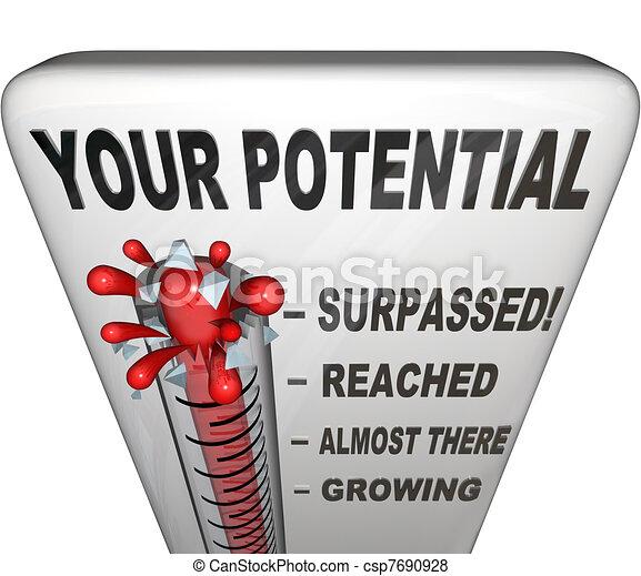 volle, succes, bereiken, testament, potentieel, u, afgemeten, jouw - csp7690928