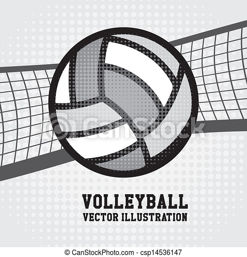 volley-ball, conception - csp14536147