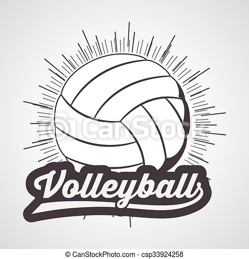 volley-ball, ligue, conception - csp33924258