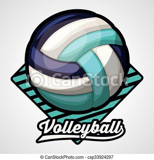 volley-ball, ligue, conception - csp33924297