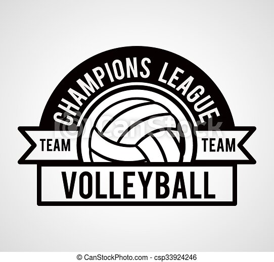 volley-ball, ligue, conception - csp33924246