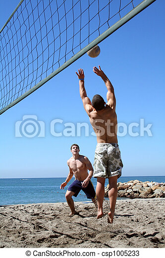 volley-ball plage - csp1005233