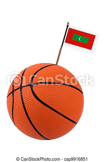 Volley-ball with a national flag - csp9916851