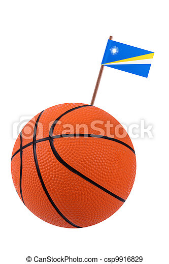 Volley-ball with a national flag - csp9916829