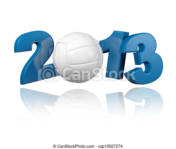 Volleyball 2013 design - csp10027274