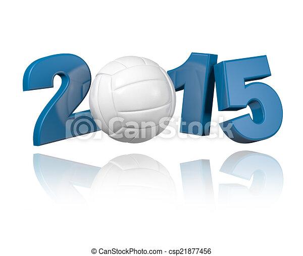 Volleyball 2015 design - csp21877456