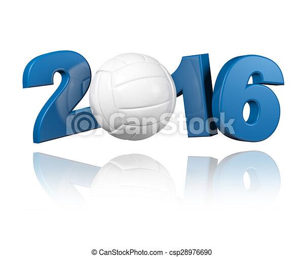 Volleyball 2016 design  - csp28976690