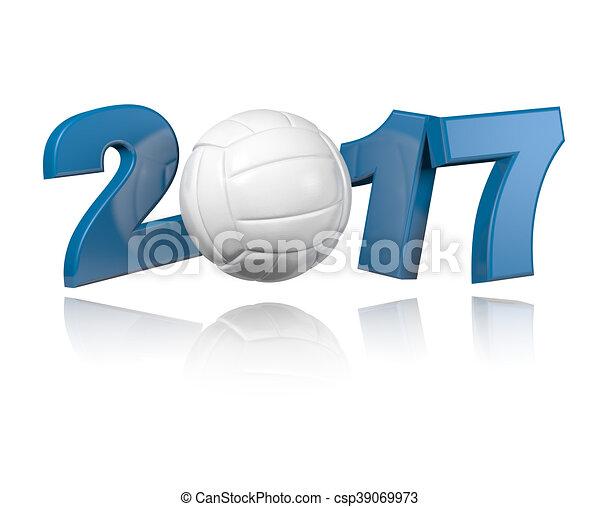 Volleyball 2017 design - csp39069973