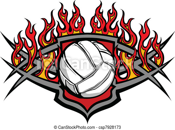 volleyball ball template with flame graphic volleyball vectors rh canstockphoto com volleyball graphic designs volleyball graphic designs