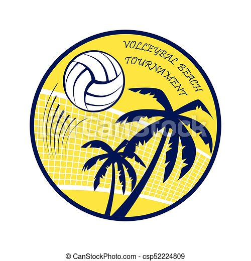 volleyball beach tournament abstract yellow volleyball vector rh canstockphoto com  sand volleyball graphics