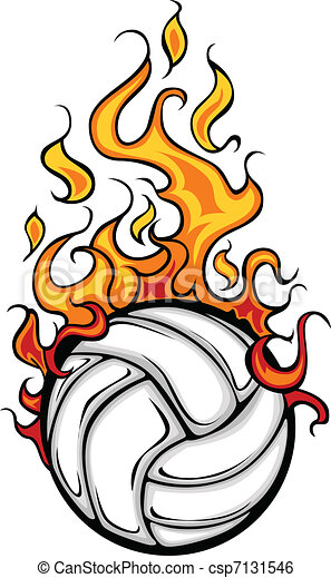 volleyball flaming ball vector cart flaming volleyball ball vector rh canstockphoto com free flaming volleyball clipart