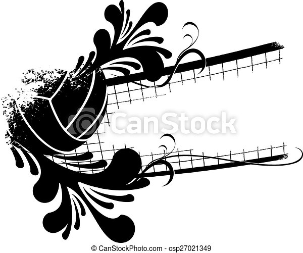 Volleyball Florish - csp27021349