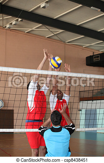 Volleyball game - csp8438451