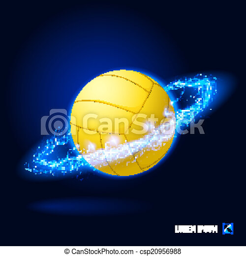Volleyball high voltage - csp20956988