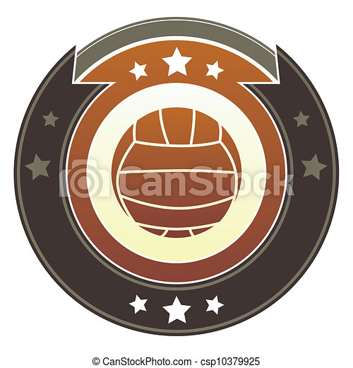 Volleyball imperial button - csp10379925